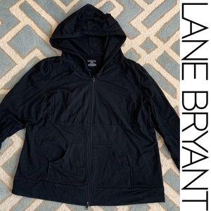 LANE BRYANT black terry hoodie 22/24